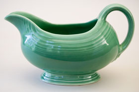 Original Green Vintage Fiestaware Sauce Boat For Sale