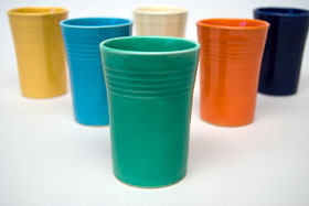 Green Vintage FiestaJuice Tumbler Fiestaware Pottery For Sale