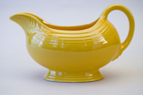 Yellow Vintage Fiestaware Sauce Boat For Sale