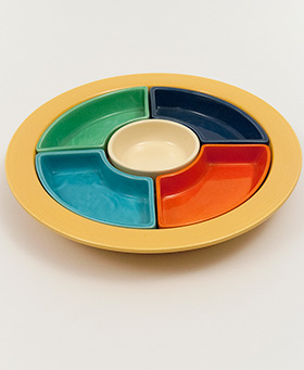 Vintage Fiesta Relish Tray: Fiestaware Original Lazy Susan For Sale