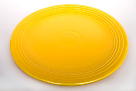 Yellow Vintage Fiesta 13 inch Chop Plate Fiestaware For Sale Old Authentic