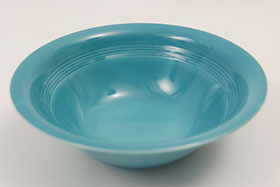 Harlequin VIntage 9 Inch Nappy Bowl in 40s Turquoise Glaze