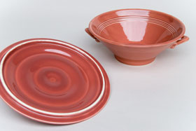 Harlequin Pottery Rose Covered Casserole: Pottery for Sale
