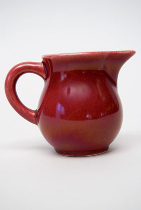 Vintage Harlequin Individual Creamer in Maroon: Harlequin Dinnerware 30s 40s American Solid Color Dinnerware For Sale