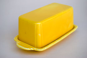 Riviera Pottery Yellow Butter Dish