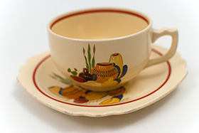 Mexicana Teacup and Saucer Set