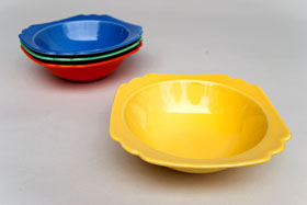 Vintage Riviera Pottery: Original Fiesta, Fiestaware Homer Laughlin Green Butter DishFor Sale