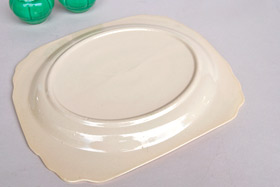 Riviera Pottery Plain Well Platter in Original Ivory Glaze for Sale