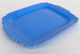 Mauve Blue RIviera Pottery Rectangular Batter Tray