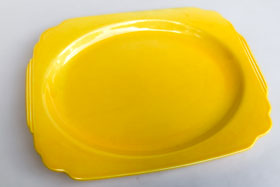 Riviera Pottery for Sale: Original Yellow Platter from vintagefiestaware.com