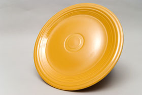 Vintage Fiesta Yellow 10 Inch Dinner Plate  Fiestaware Pottery Vase: Gift, Rare, Hard to Find, Buy Onlline Now, American Antique Pottery