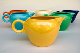 Vintage Fiestaware Yellow 2 Pint Jug For Sale: Antique Fiesta Pottery  Americana Dinnerware Art Deco 30s 40s