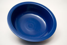 Radioactive Cobalt Vintage Fiesta Nappy Vegetable Bowl Fiestaware Pottery For Sale