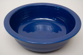 Cobalt Vintage Fiesta Nappy Vegetable Bowl Fiestaware Pottery For Sale