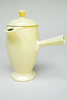 VIntage Fiestaware, Original Ivory, Demitasse Coffeepot, A.D., Stick Handle, Rare Pottery For Sale
