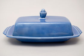 Vintage Harlequin Pottery For Sale: Fiestaware Vintage Mauve: Homer Laughlin: Rare Butter Dish