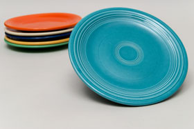 Vintage Fiesta Turquoise 7 Inch Plate  Fiestaware Pottery
