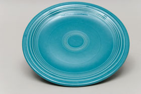 Vintage Fiesta Turquoise 7 Inch Plate  Fiestaware Pottery Vase: Gift, Rare, Hard to Find, Buy Onlline Now, American Antique Pottery