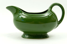 50s Forest Green Vintage Fiestaware Sauce Boat For Sale
