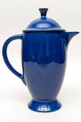 Cobalt Fiesta Coffeepot Fiestaware Pottery For Sale