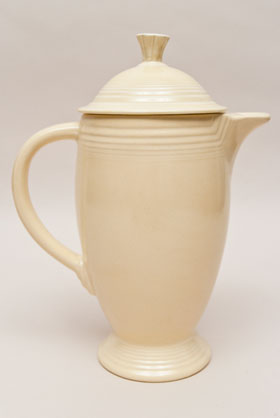 Ivory Fiesta Coffeepot Fiestaware Pottery For Sale