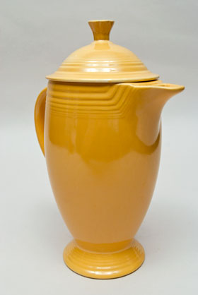 Fiesta Vintage Original Yellow Coffee Pot: Fiestaware Pottery For Sale