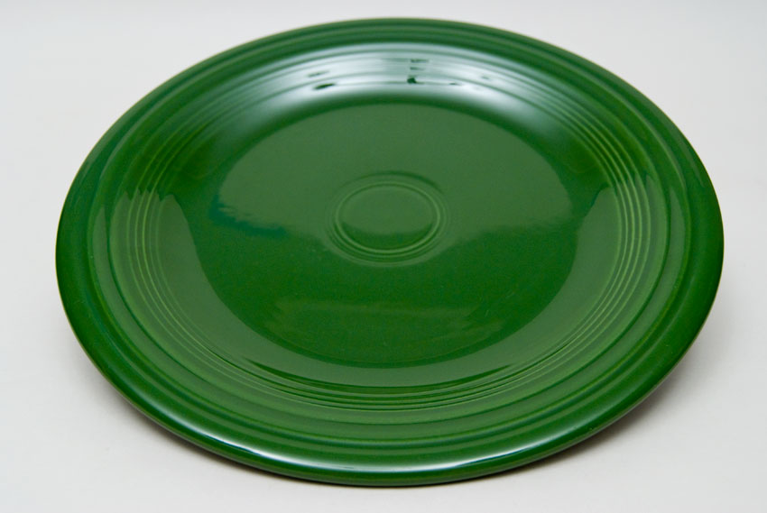 50s Forest Green Fiesta 10 inch Dinner Plate Fiestaware Pottery For Sale ... & Fiesta 50s Forest Green 10 inch Plate Vintage Fiestaware For Sale