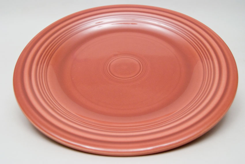 50s Rose Fiesta 10 inch Dinner Plate Fiestaware Pottery For Sale ... & Fiesta 50s Rose 10 inch Plate Vintage Fiestaware For Sale