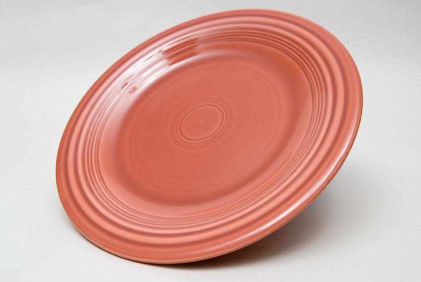 ... 50s Rose Fiesta 10 inch Dinner Plate Fiestaware Pottery For Sale & Fiesta 50s Rose 10 inch Plate Vintage Fiestaware For Sale