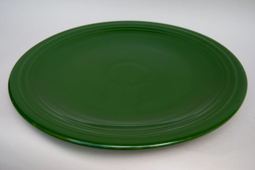 50s Fiestaware 50s dark forest green large 15 inch chop plate ... & Vintage 50s Fiesta Color: Original Dark Forest Green Large 15 inch ...