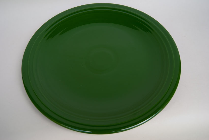 50s Fiestaware 50s dark forest green 13 inch chop plate ... & Vintage 50s Fiesta Color: Original Dark Forest Green 13 inch Chop ...