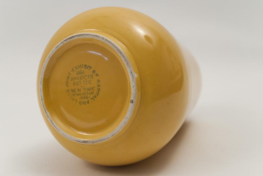 Vintage Fiesta Pottery Tripod Candle Holders In Original Ivory Glaze