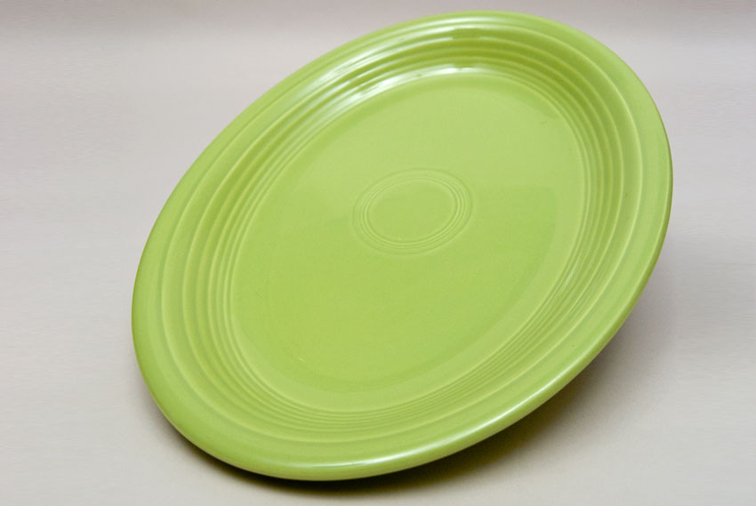 50s Gray Vintage Fiesta Large Oval Platter & Vintage Fiesta Pottery 50s Colors: Chartreuse Rose Gray and Forest ...