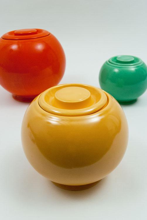 Vintage Fiesta Kitchen Kraft Ball Cookie Jars For Sale