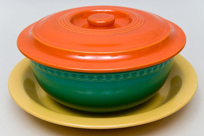 & Vintage Fiestaware Promotional Campaign Three Piece Kitchen Set
