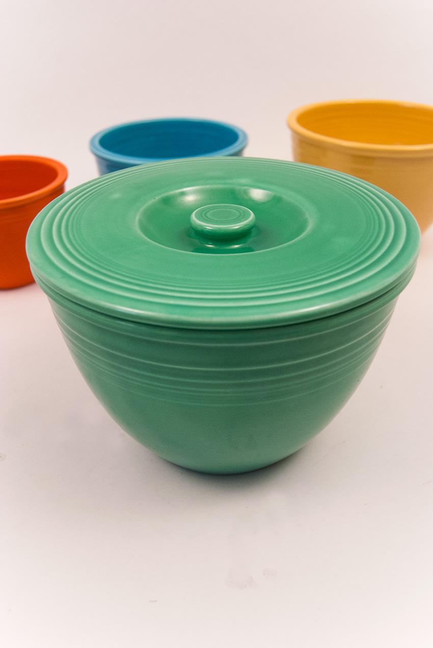 Vintage Fiesta Nesting Bowl Lid Number Four Green Fiestaware Mixing ...