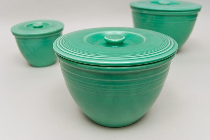 Vintage Fiesta Nesting Bowl Lid Number Three Green Fiestaware Mixing ...