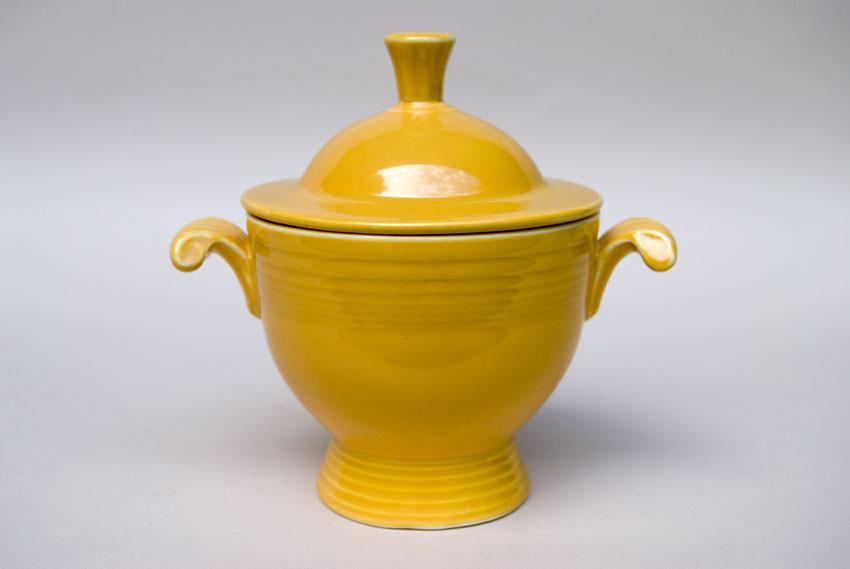 Fiesta Vintage Yellow Sugar Bowl For Sale Original Fiestaware