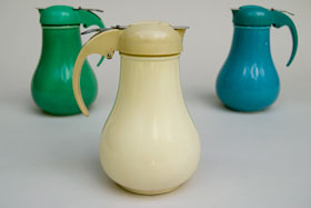 Rare Vintage Fiesta Ivory Syrup Pitcher For Sale