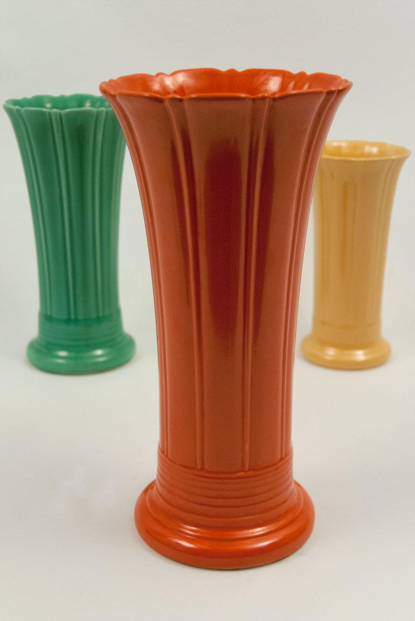 Red Vintage Fiestaware Vase For Sale 12 Inch Largest Size