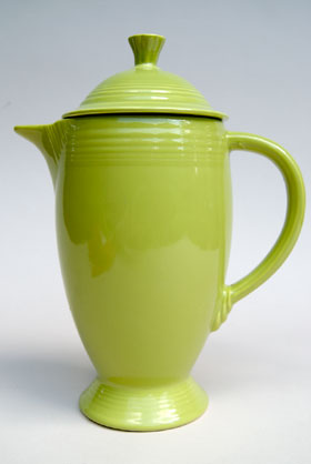 Fiesta Vintage Original Charteuse Coffee Pot: Rare Hard to Find Fiestaware Pottery For Sale Gift