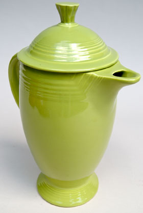 Rare Fiesta Vintage Chartreuse Coffeepot 50s Fiestaware For Sale