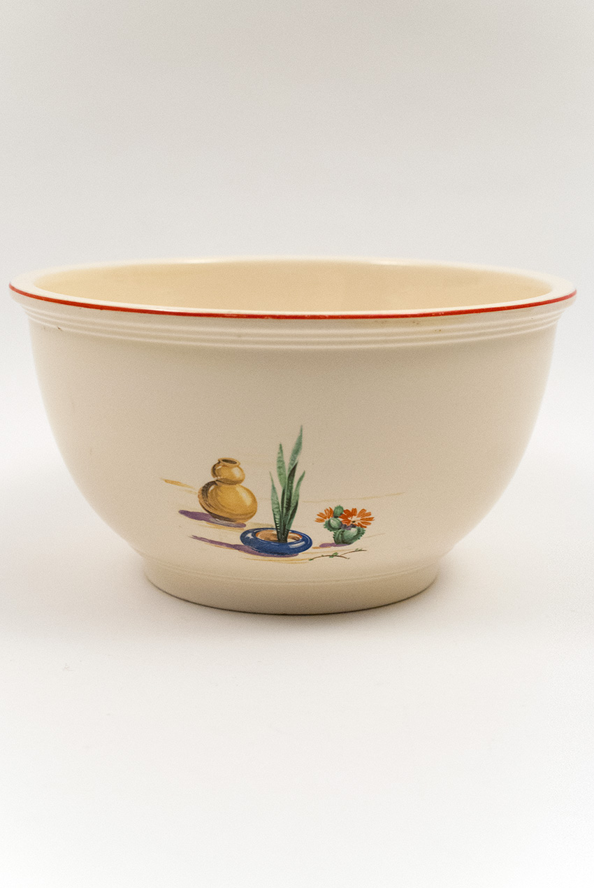 Hacienda Fiesta Kitchen Kraft Large Mixing Bowl with Decal and Red ...