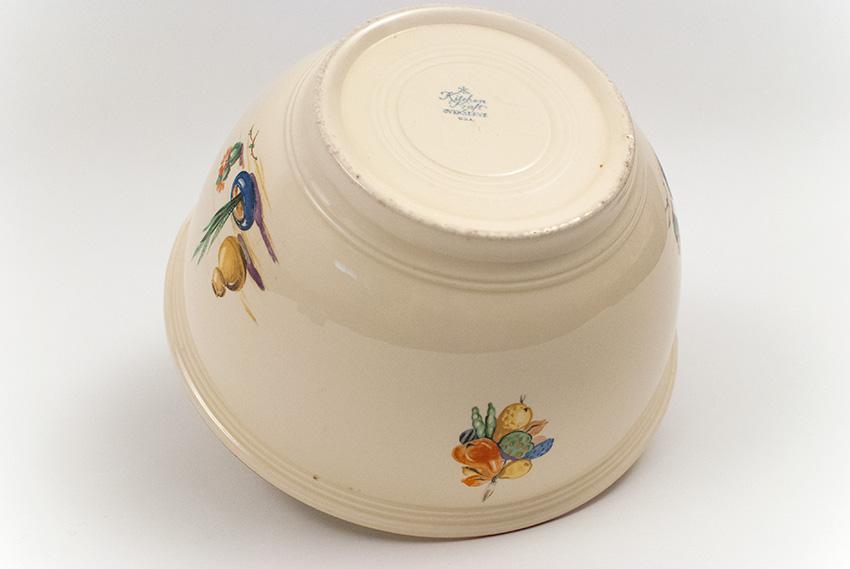 ... Hacienda Homer Laughlin Decalware Kitchen Kraft Bowl With Red Stripe