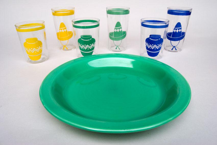 Kitchen Kraft Pie Plate in Original Green Hard to Find Go-Along Fiestaware Pottery ... & Kitchen Kraft Pie Plate in Original Green Fiestaware Pottery For ...