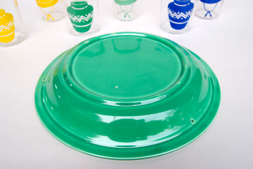 Kitchen Kraft Pie Plate in Original Green Hard to Find Go-Along Fiestaware Pottery ... & Kitchen Kraft Pie Plate in Original Green Fiestaware Pottery For ...