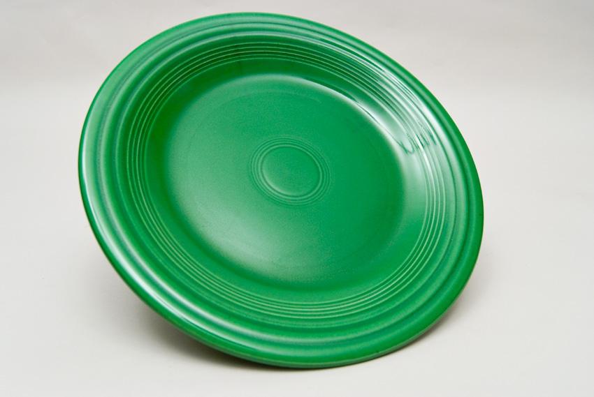 Medium Green Fiesta 10 inch Dinner Plate Fiestaware Pottery For Sale ... & Fiesta Medium Green 10 inch Plate Vintage Fiestaware For Sale