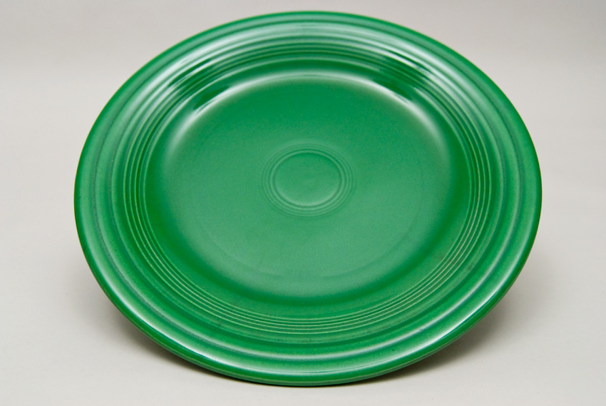 Medium Green Fiesta 10 inch Dinner Plate Fiestaware Pottery For Sale ... & Fiesta Medium Green 10 inch Plate Vintage Fiestaware For Sale
