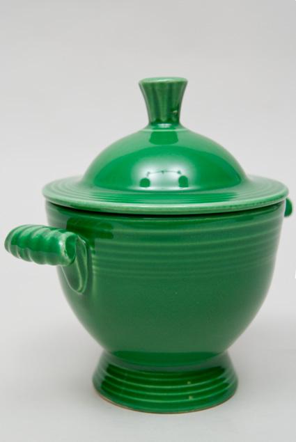 Vintage Fiesta Medium Green 50s Colors Sugar Bowl