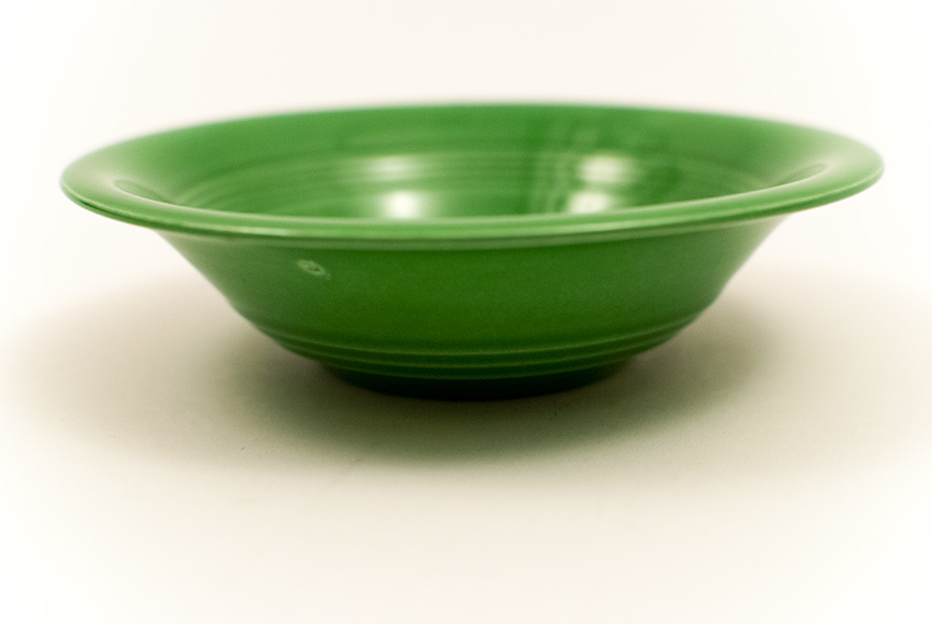 Vintage Harlequin Pottery Medium Green Fruit Bowl For